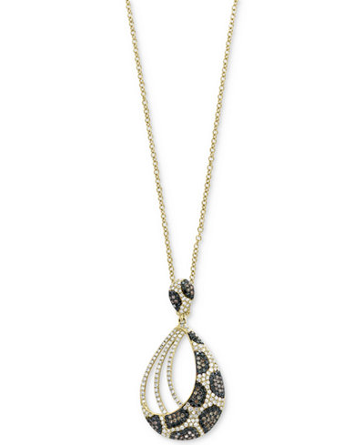 Confetti by EFFY® Diamond Animal-Look Pendant Necklace (1 ct. t.w.) in 14k Gold