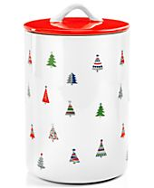 Festive Tree Collection Lidded Tree Canister, Created for Macy's