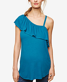 Motherhood Maternity One-Shoulder Top