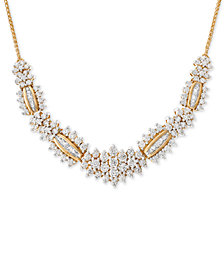 Wrapped in Love™ Diamond Statement Necklace (2-1/2 ct. t.w.) in 14k Gold, Created for Macy's