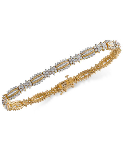 Wrapped in Love™ Diamond Link Bracelet (3 ct. t.w.) in 14k Gold, Created for Macy's