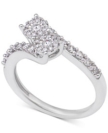Diamond Two Souls Engagement Ring (1/2 ct. t.w.) in 14k White Gold