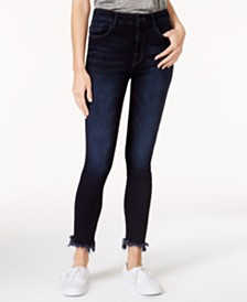 M1858 Alice High-Rise Skinny Jeans with Frayed Hem, Created for Macy's