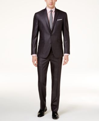 Men's Techni-Cole Basketweave Slim-Fit Suit