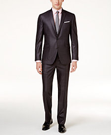 Kenneth Cole Reaction Men's Techni-Cole Basketweave Slim-Fit Suit