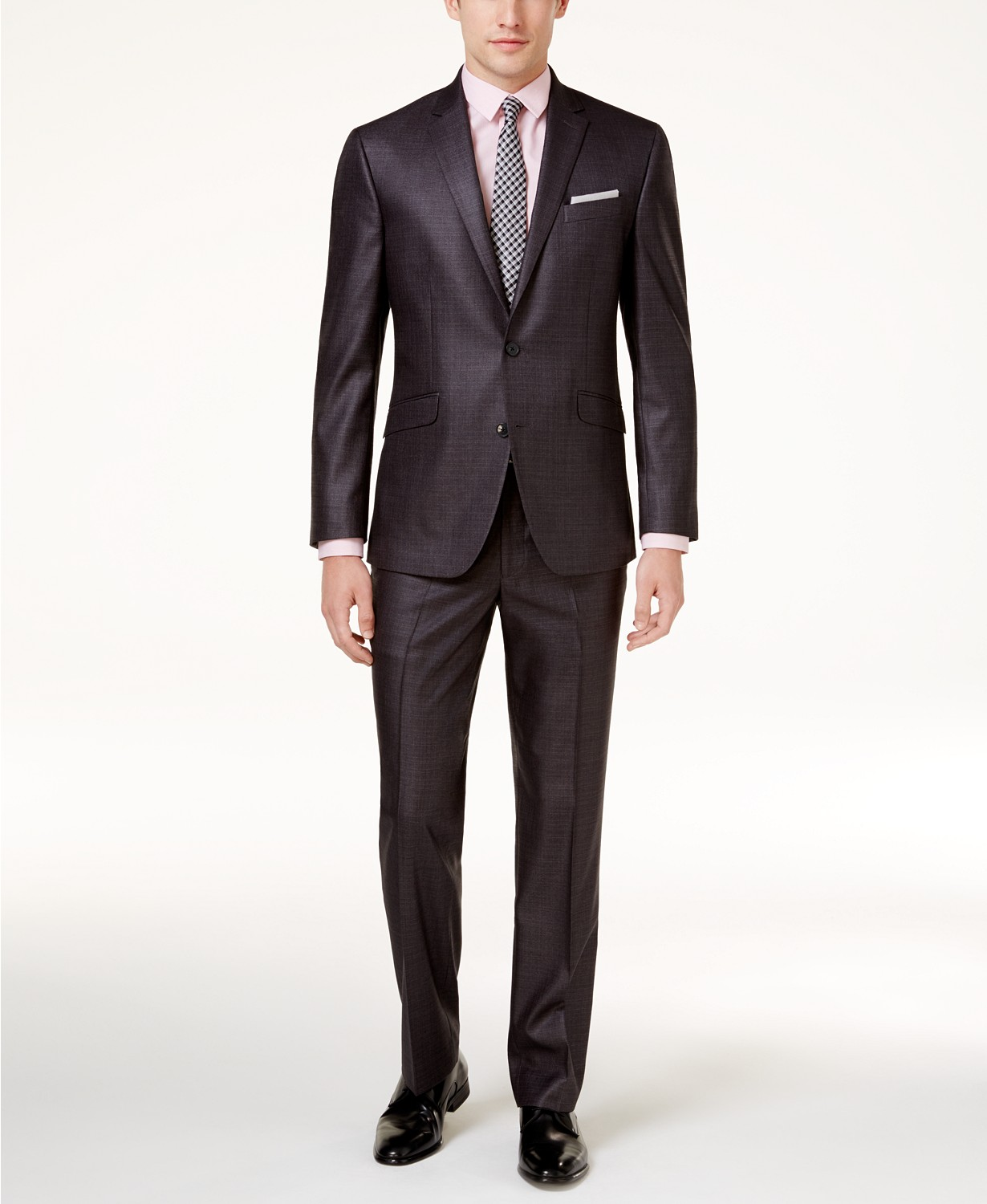 Kenneth Cole Reaction Men's Ready Flex Basketweave Slim-Fit Suit