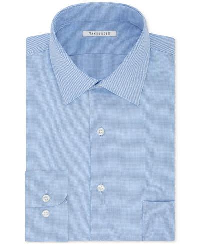 Van Heusen Men's Classic Fit Micro Houndstooth Dress Shirt