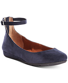 American Rag Eeva Ankle-Strap Flats, Created for Macy's