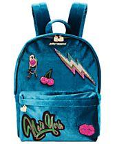Betsey Johnson Velvet Medium Backpack