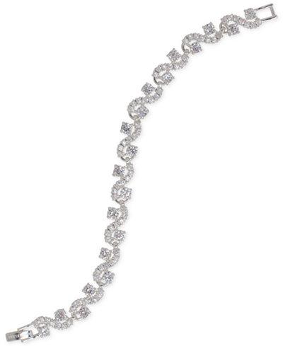 Anne Klein Silver-Tone Cubic Zirconia Flex Bracelet