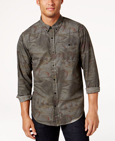 Ezekiel Men's Kyoto Printed Shirt - Casual Button-Down Shirts ...