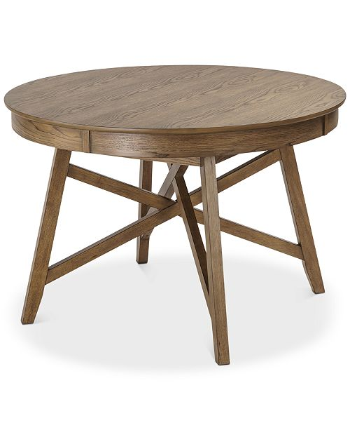 Furniture Brennan Round Dining Table, Quick Ship