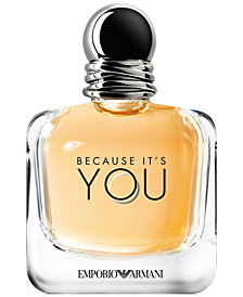 Emporio Armani Because It's You Eau de Parfum Spray, 3.4-oz.