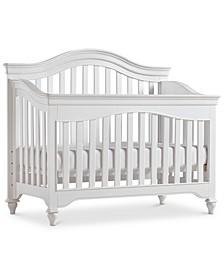 Mia Baby 4-In-1 Convertible Crib (Convertible Crib, Bed Rails, Slat Roll & Footboard)