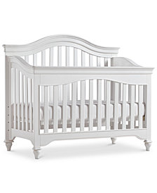 Mia Baby 4-In-1 Convertible Crib (Convertible Crib, Bed Rails, Slat Roll & Footboard)