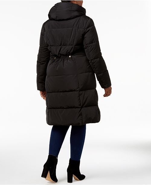 Size Cole Haan Coat Plus Black Pillow Signature Puffer Heavyweight Collar BqBrxtwdS
