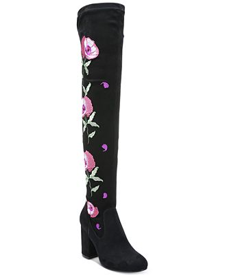 Carlos by Carlos Santana Quality Embroidered Over-The-Knee Boots