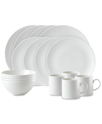 Wedgwood Gio 16-Piece Dinnerware Set Service for 4  sc 1 st  Macy\u0027s & Wedgwood Gio 16-Piece Dinnerware Set Service for 4 - Fine China ...