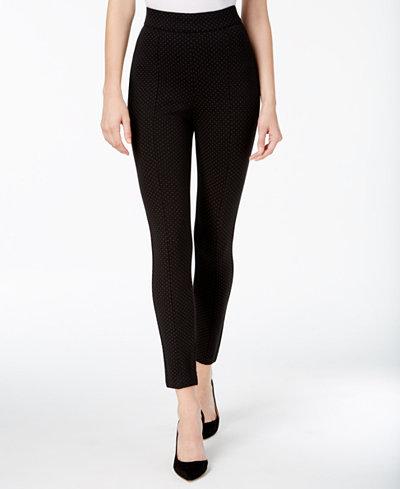 Anne Klein Pindot Printed Skinny Pants