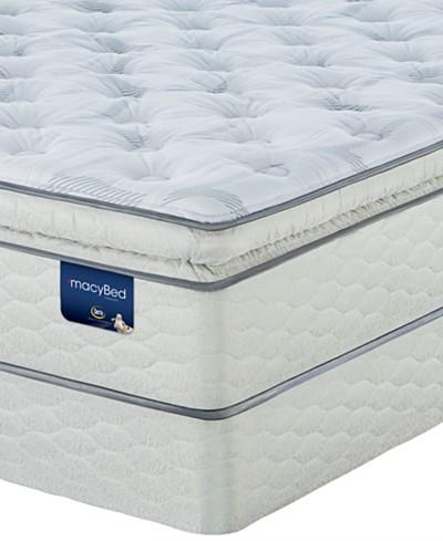 MacyBed Lakemere Super Pillowtop Plush Mattress Set - King
