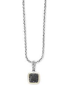 Balissima by EFFY® Diamond Pavé Cluster Pendant Necklace (1/2 ct. t.w.) in Sterling Silver & 18k Gold