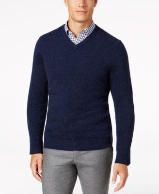 Club Room Men\u0027s V,Neck Cashmere Sweater, Created for Macy\u0027s