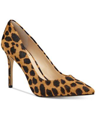 macy's leopard pumps