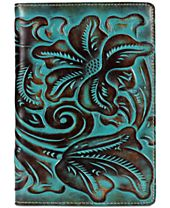 Patricia Nash Turquoise-Tooled Vinci Refillable Notebook