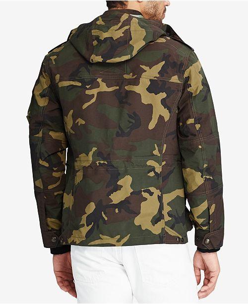 beae5d001055c Polo Ralph Lauren Men's Camo Hooded Utility Jacket & Reviews - Coats ...