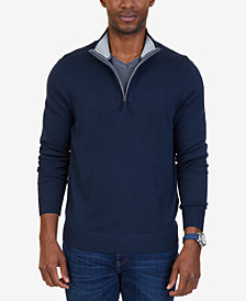 Nautica Men's Big & Tall Quarter-Zip Pullover Sweater