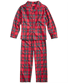 Family Pajamas Boys' or Girls' Holiday Plaid Pajama Set, Created for Macy's