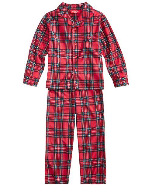 Family Pajamas Matching Kids Brinkley Plaid Pajama Set, Created For Macy's