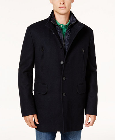 Cole Haan Men's 3-In-1 Wool Primaloft Coat