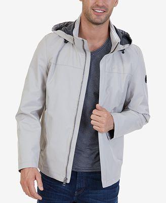 Nautica Men's Waterproof Hooded Jacket - Coats & Jackets - Men ...