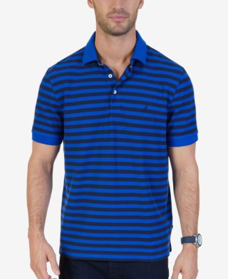 Image of Nautica Men's Classic-Fit Striped Performance Deck Polo