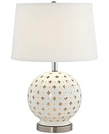 Pacific Coast  White Blossom Table Lamp
