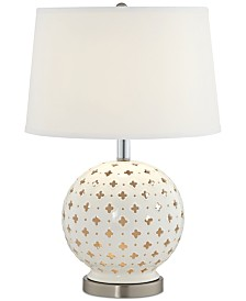 Pacific Coast  White Blossom Table Lamp