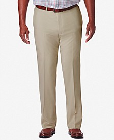 Men's Big & Tall Cool 18® PRO Classic-Fit Expandable Waist Flat Front Stretch Dress Pants