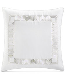 Hotel Collection Greek Key Cotton Platinum European Sham, Created for Macy's