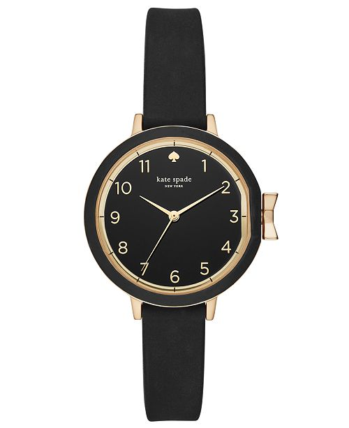 72befb6ff kate spade new york Women's Park Row Black Silicone Strap Watch 34mm ...