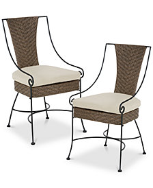 Macaria Outdoor Armchair (Set Of 2), Quick Ship