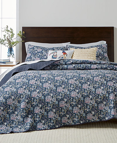 Martha Stewart Collection Iridescent Peony Quilt and Shams ... : quilts at macys - Adamdwight.com