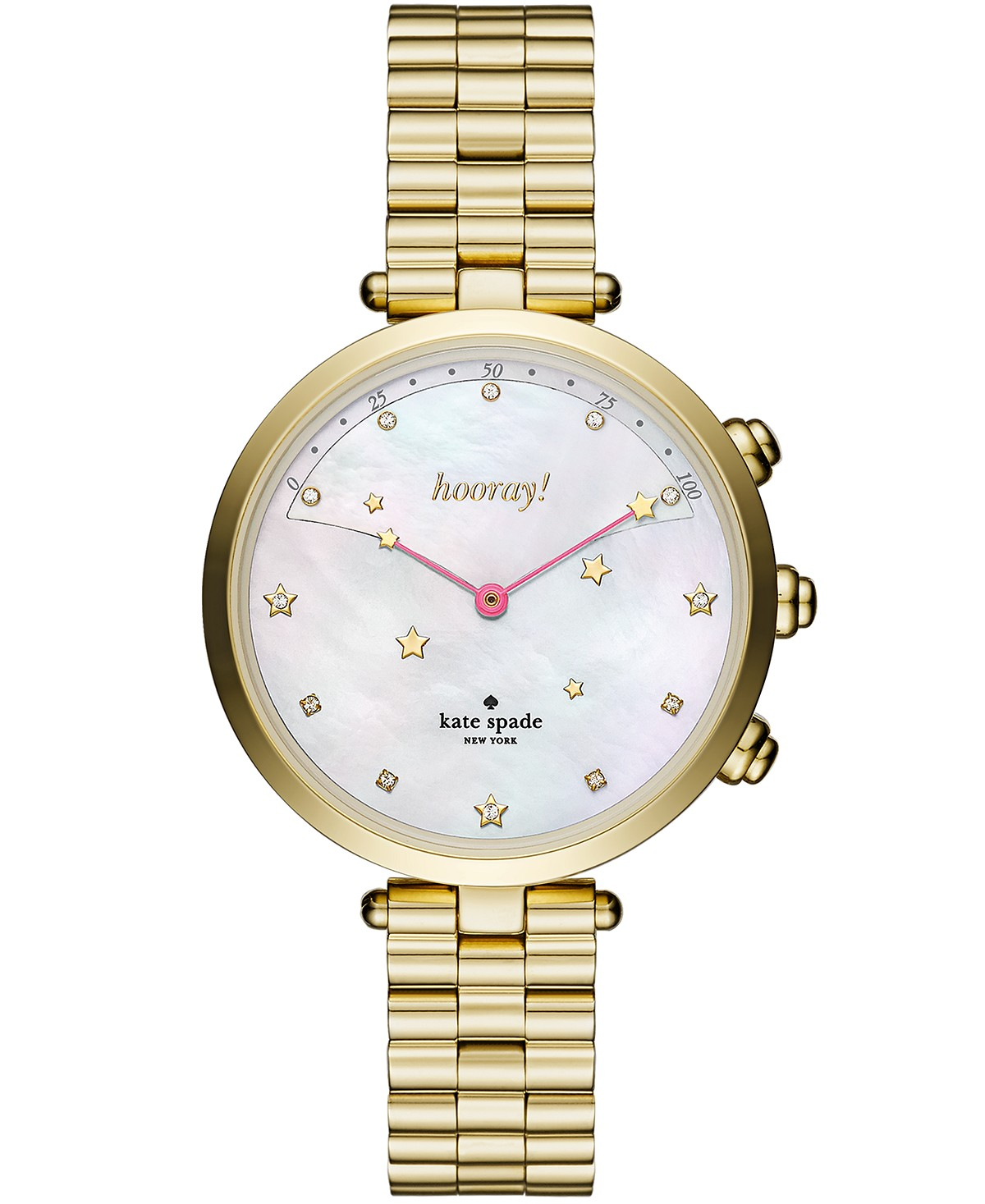 Holland Slim Gold-Tone Stainless Steel Bracelet Hybrid Smart Watch  <table align='center'> <tr><th>Size:38mm</th></tr><tr><td>$250.00</td></tr></table>