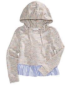 Tinsey Striped Hem Pullover Hoodie, Big Girls