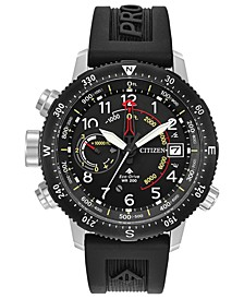 Eco-Drive Men's Promaster Altichron Black Rubber Strap Watch 46mm