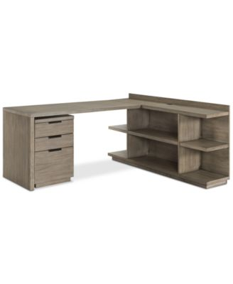 Ridgeway Home Office Furniture, 3-Pc. Set (Return Desk, Peninsula USB Outlet Bookcase & Mobile File Cabinet), Created for Macy's