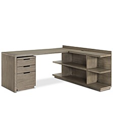 Ridgeway Home Office 3-Pc. Set (Return Desk, Peninsula USB Outlet Bookcase & Mobile File Cabinet), Created for Macy's