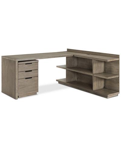 Ridgeway Home Office Furniture 3 Pc Set Return Desk Peninsula Usb