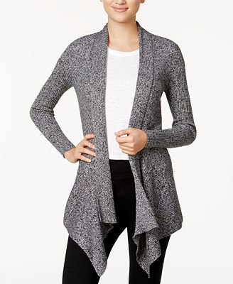 Bar III Open-Front Waterfall Cardigan, Created for Macy's ...