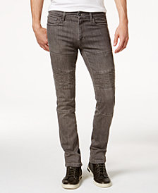 Ring of Fire Men's Slim Fit Stretch Moto Jeans, Created for Macy's